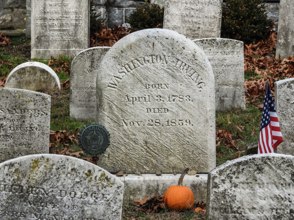 Gravestone of Washington Irving