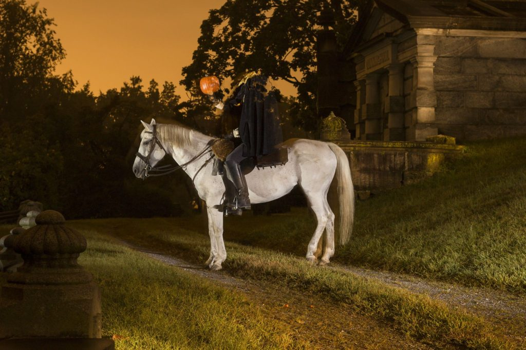 Headless Horseman on horseback